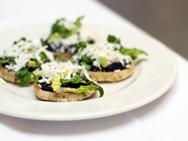 Sopes Playeros with Midnight black beans