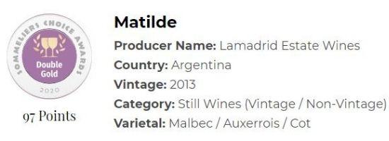 2013 Matilde Malbec by Lamadrid Estate Wines