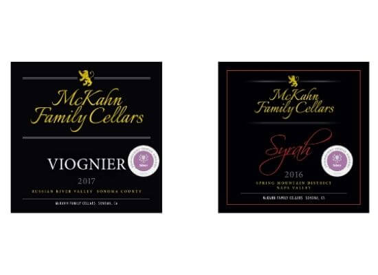 McKahn's 2016 Shiraz and 2017 Viognier with a silver medal each