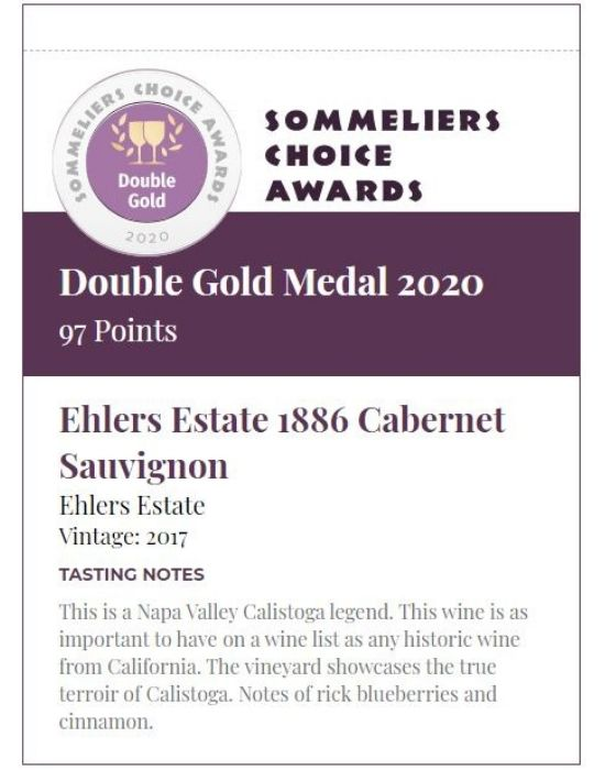Ehlers Estate 1886 Cabernet Sauvignon Shelf Talker