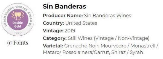 2019 Sin Banderas Grenache Noir