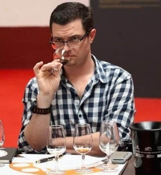 Paul Carayas at a wine tasting