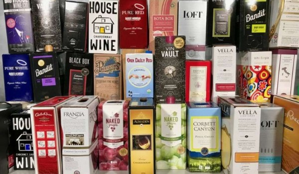 Stack of Box Wines