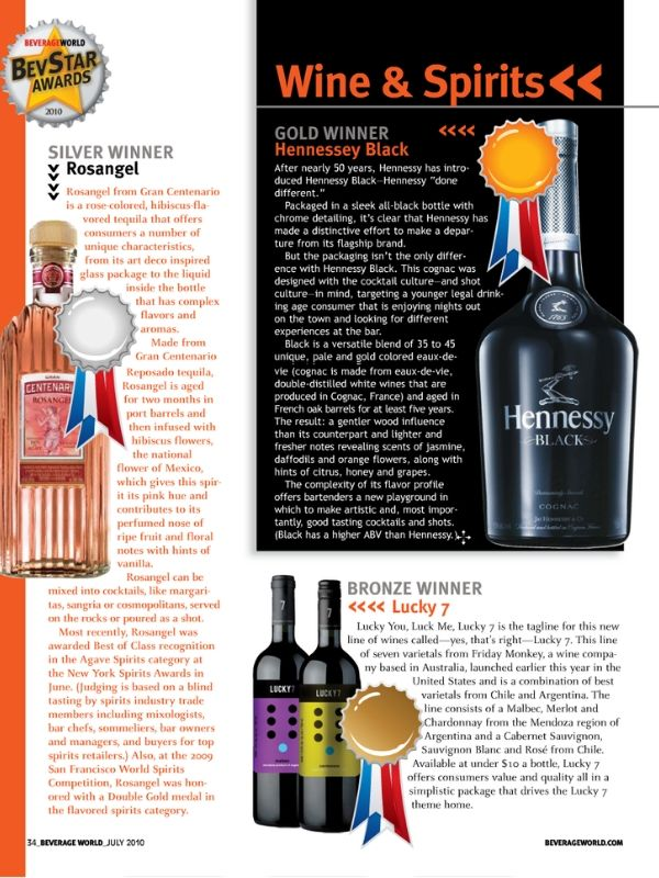 Magazine picture of Lucky-7 wines