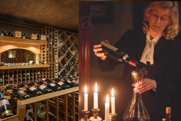 One of the 8 wine rooms at the resort