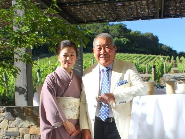 Natsuko and Kenzo Tsujimoto, proprietors and vintner of Kenzo Estate winery in Napa Valley