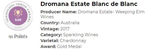 Dromana Estate Blanc de Blanc - Gold.