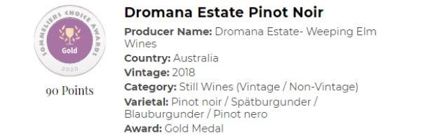 Dromana Estate Pinot Noir- Gold.
