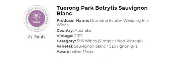 Tuerong Park Botrytis Sauviginon Blanc- Silver.