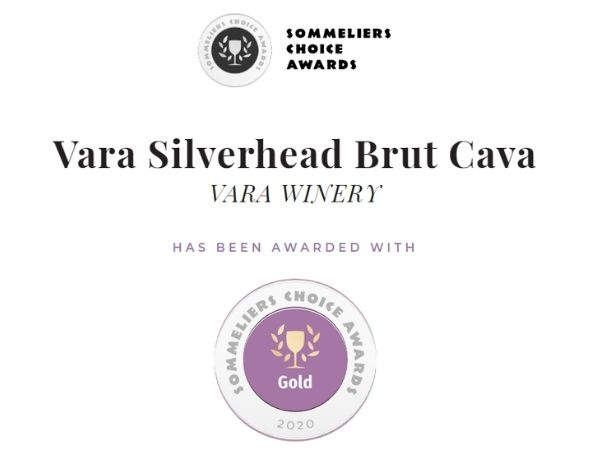A panel of high-profile sommeliers and wine directors awarded Vara Winery & Distillery a total of six medals at the 2020 Sommeliers Choice Awards, including a gold medal for their Silverhead Brut Cava.
