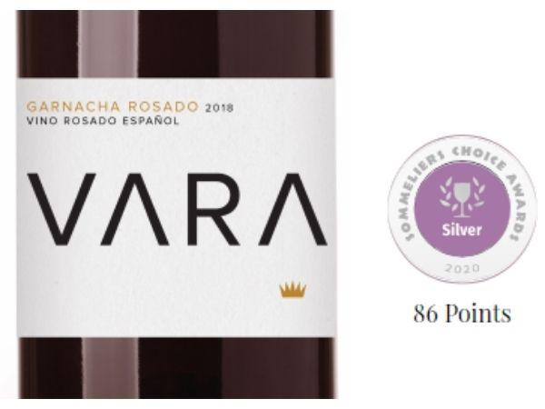 Vara Garnacha Rosado 2018 - Silver medal at 2020 Sommeliers Choice Awards
