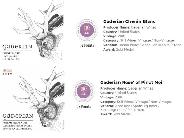 2019 Rose of Pinot Noir and 2019 Chenin Blanc both won 92 points and a gold medal at the 2020 Sommeliers Choice Awards.