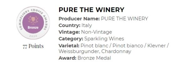 Pure the Winery Sparkling White