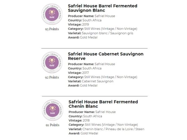 Winner of 3 gold medals at the 2020 Sommeliers Choice Awards makes it a preferred south african wine brand for your wine list.