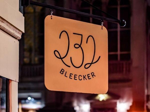 232 Bleecker, New York, signage