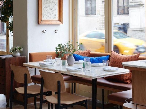 232 Bleecker, New York, inside the restaurant