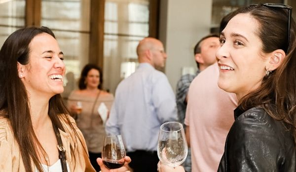 Women networking over wine at the CIA BevPro