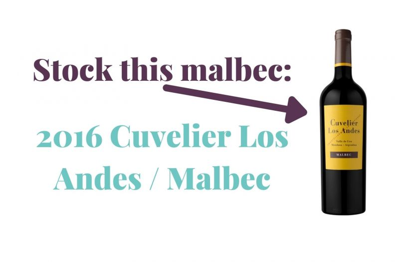 Photo for: Stock this malbec: 2016 Cuvelier Los Andes / Malbec