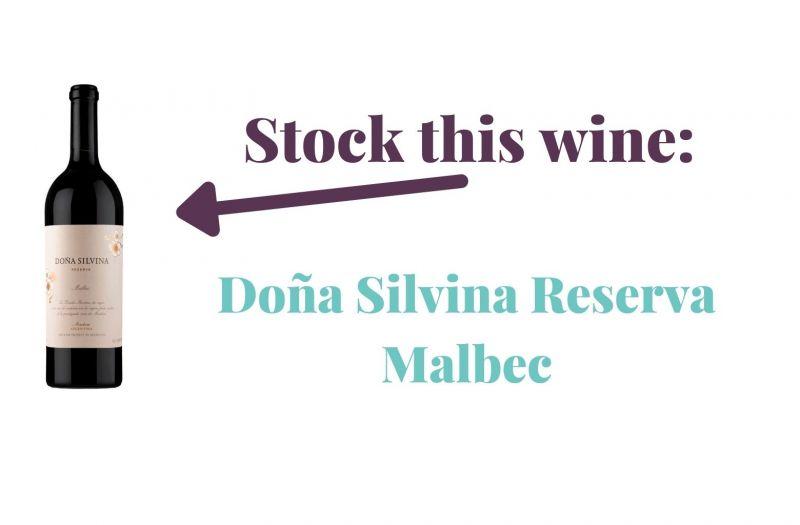 Photo for: Stock this malbec: 2015 Doña Silvina Reserva Malbec