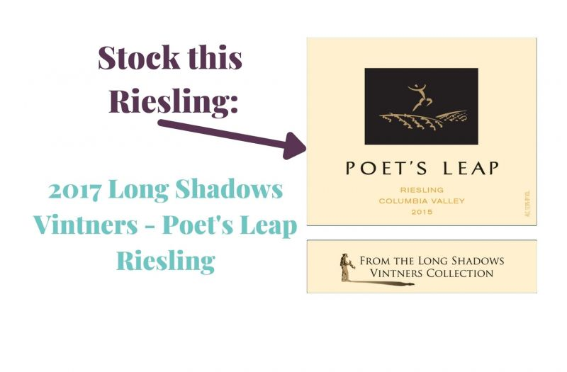 Photo for: Stock this Riesling: 2017 Long Shadows Vintners - Poet's Leap Riesling