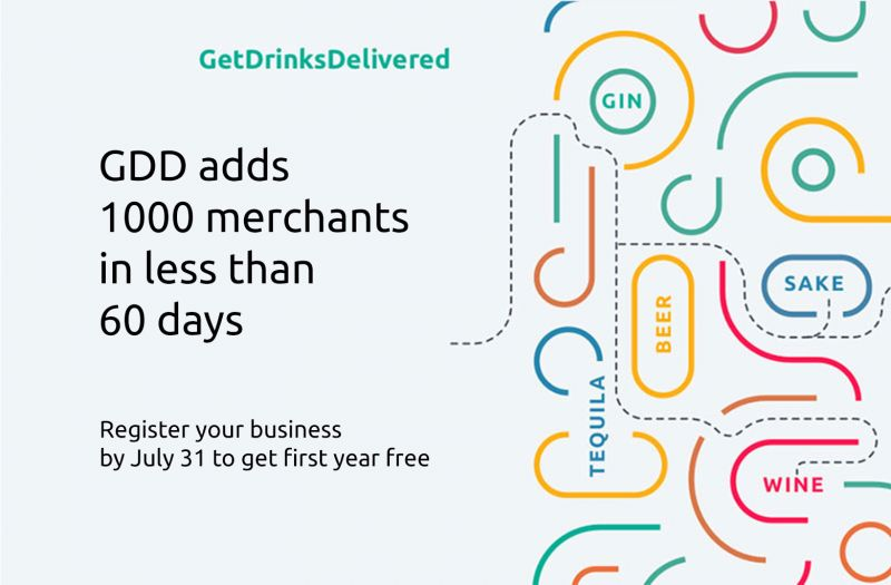 Photo for: GetDrinksDelivered.com Adds 1000 Merchants In Less Than 60 Days